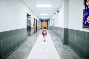 Anxiety Training for Schools Image of Student in Hallway